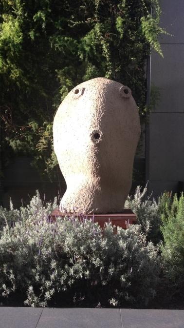 Moonrise sculpture by Ugo Rondinone